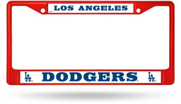Rico Los Angeles Dodgers Colored Chrome License Plate Frame product image