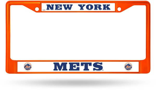 Rico New York Mets Colored Chrome License Plate Frame product image