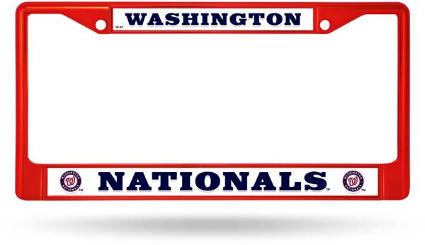 Rico Washington Nationals Colored Chrome License Plate Frame product image