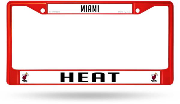 Rico Miami Heat Chrome License Plate Frame product image