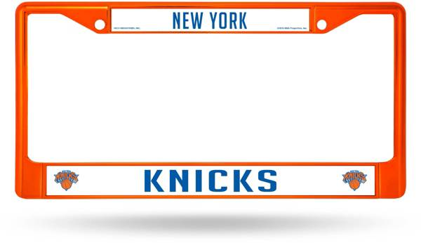 Rico New York Knicks Colored Chrome License Plate Frame product image