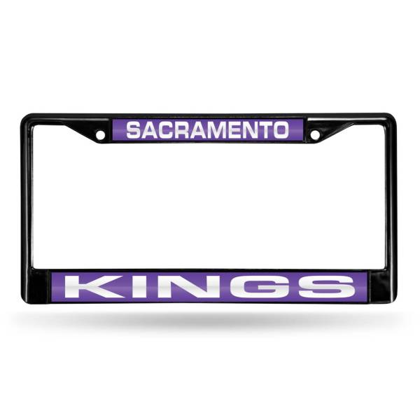 Rico Sacramento Kings Black Laser Chrome License Plate Frame product image