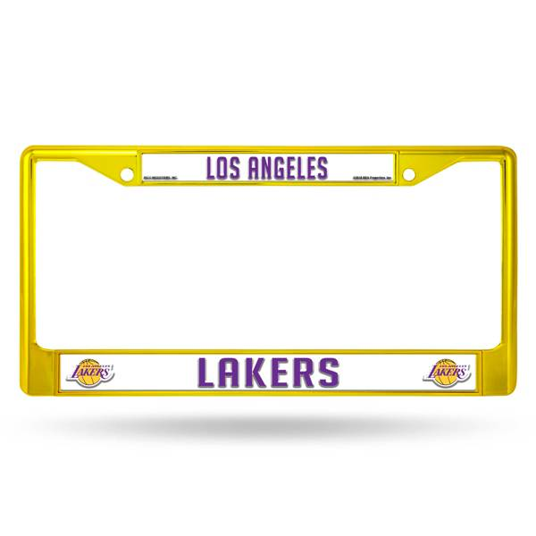 Rico Los Angeles Lakers Colored Chrome License Plate Frame product image