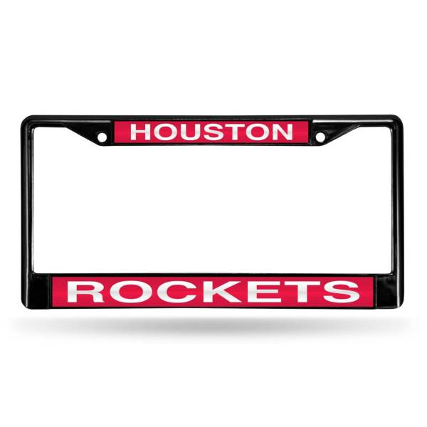 Rico Houston Rockets Black Laser Chrome License Plate Frame product image