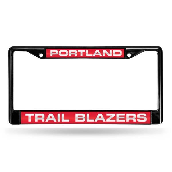 Rico Portland Trail Blazers Black Laser Chrome License Plate Frame product image
