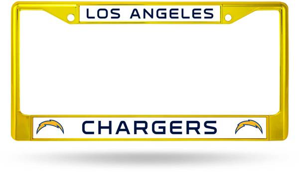 Rico Los Angeles Chargers Colored Chrome License Plate Frame product image