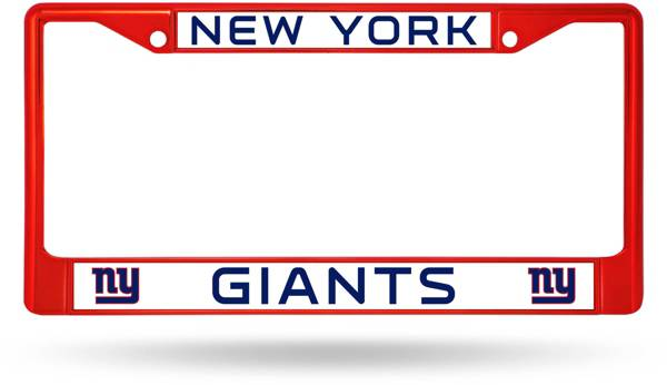 Rico New York Giants Colored Chrome License Plate Frame product image