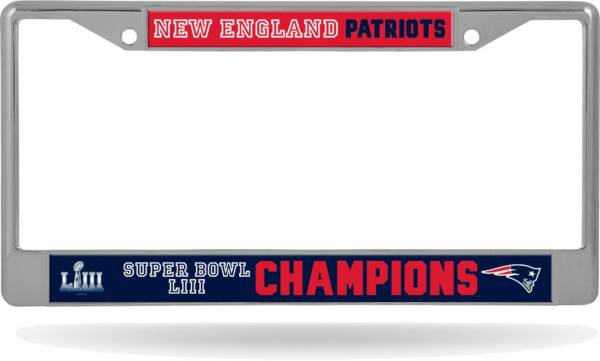 Rico Super Bowl LIII Champions New England Patriots License Plate Frame product image