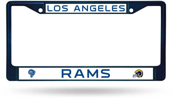 Rico Los Angeles Rams Colored Chrome License Plate Frame product image