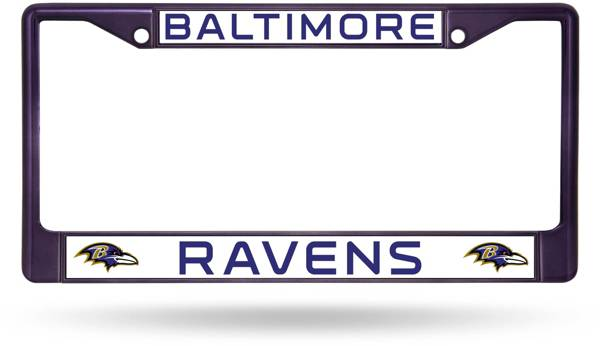 Rico Baltimore Ravens Colored Chrome License Plate Frame product image