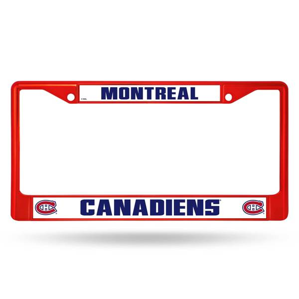 Rico Montreal Canadiens Colored Chrome License Plate Frame product image