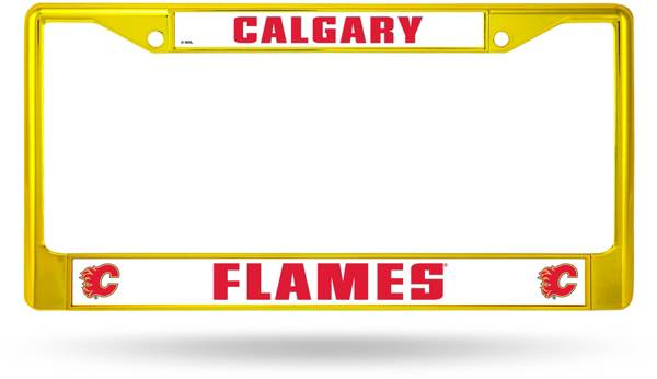Rico Calgary Flames Colored Chrome License Plate Frame product image