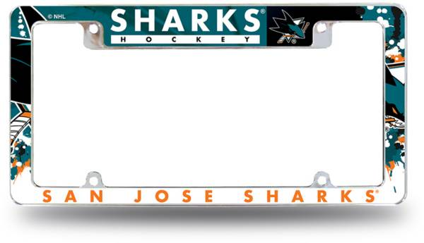Rico San Jose Sharks Chrome License Plate Frame product image