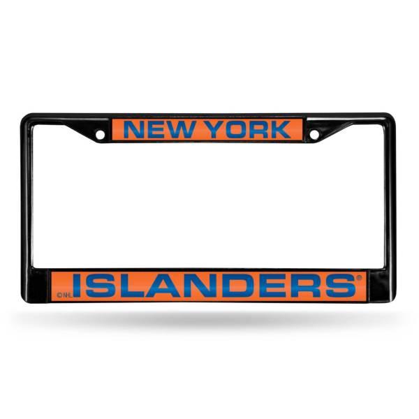 Rico New York Islanders Black Laser Chrome License Plate Frame product image