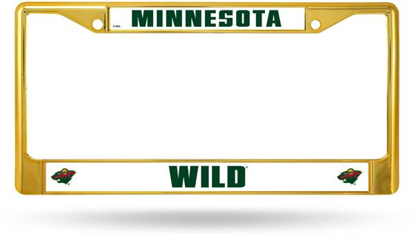 Rico Minnesota Wild Colored Chrome License Plate Frame product image