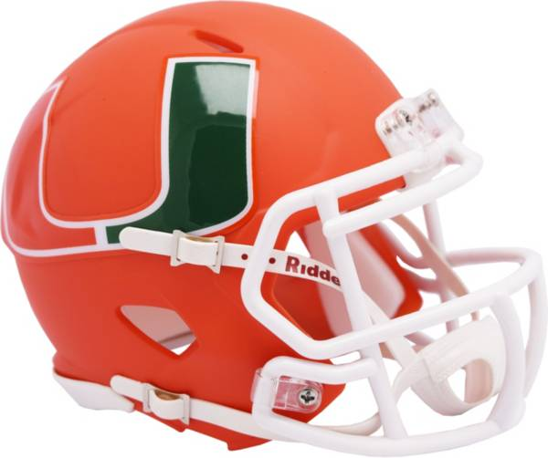 Riddell Miami Hurricanes Speed Mini Alternate Football Helmet product image