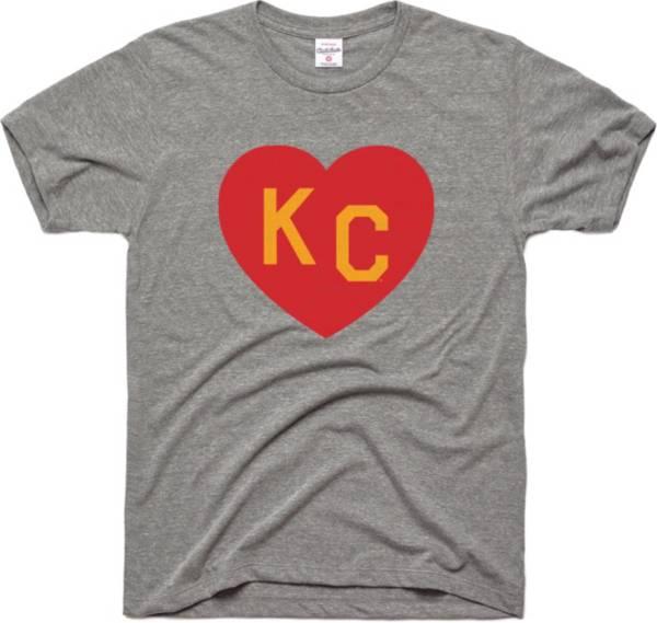 Charlie Hustle Men's KC Heart Vintage Grey T-Shirt product image