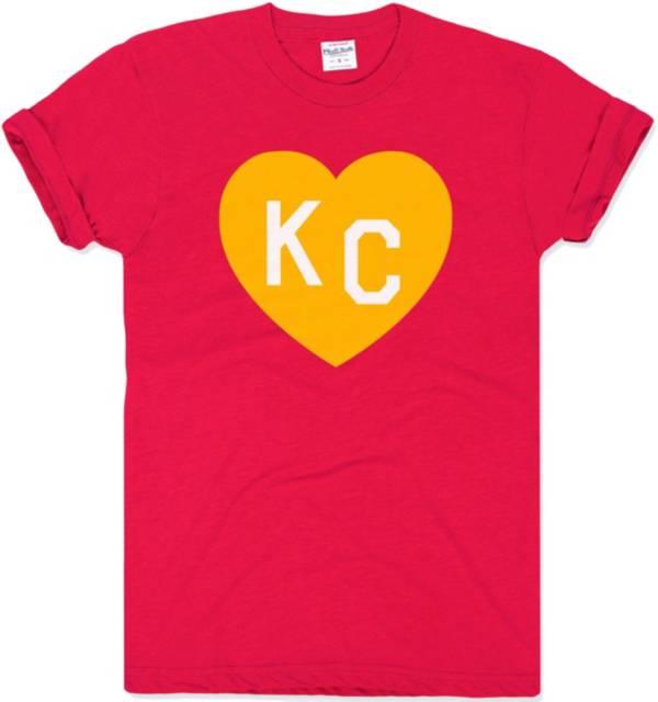 Charlie Hustle Men's KC Heart Red T-Shirt product image