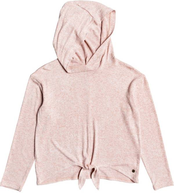 Roxy Girls' Concha Blanca Knotted Long Sleeve Hooded Top product image