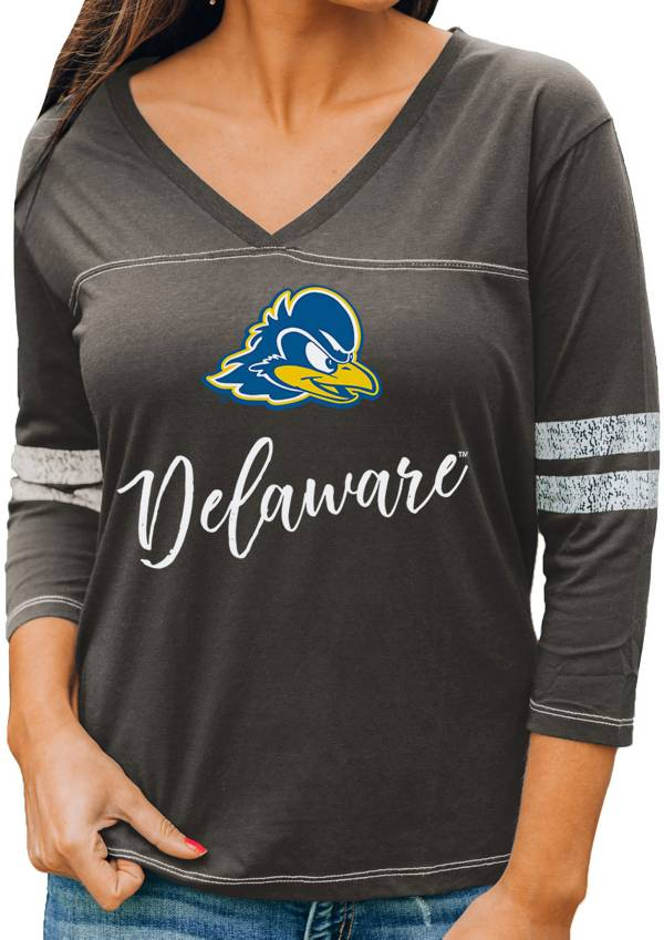 Gameday Couture Women's Delaware Fightin' Blue Hens Grey ¾ Sleeve Sport T-Shirt product image