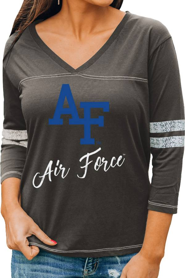 Gameday Couture Women's Air Force Falcons Grey ¾ Sleeve Sport T-Shirt product image