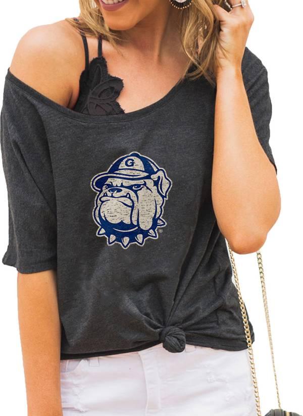 Gameday Couture Women's Georgetown Hoyas Grey Vibing Boyfriend T-Shirt product image