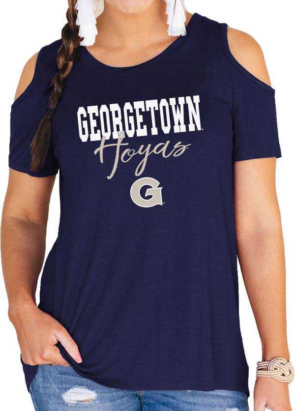 Gameday Couture Women's Georgetown Hoyas Blue Cold Shoulder T-Shirt product image