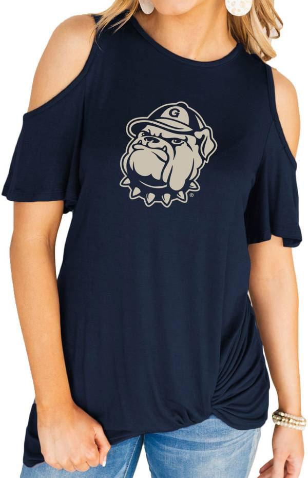 Gameday Couture Women's Georgetown Hoyas Blue Alma Mater Cold Shoulder T-Shirt product image