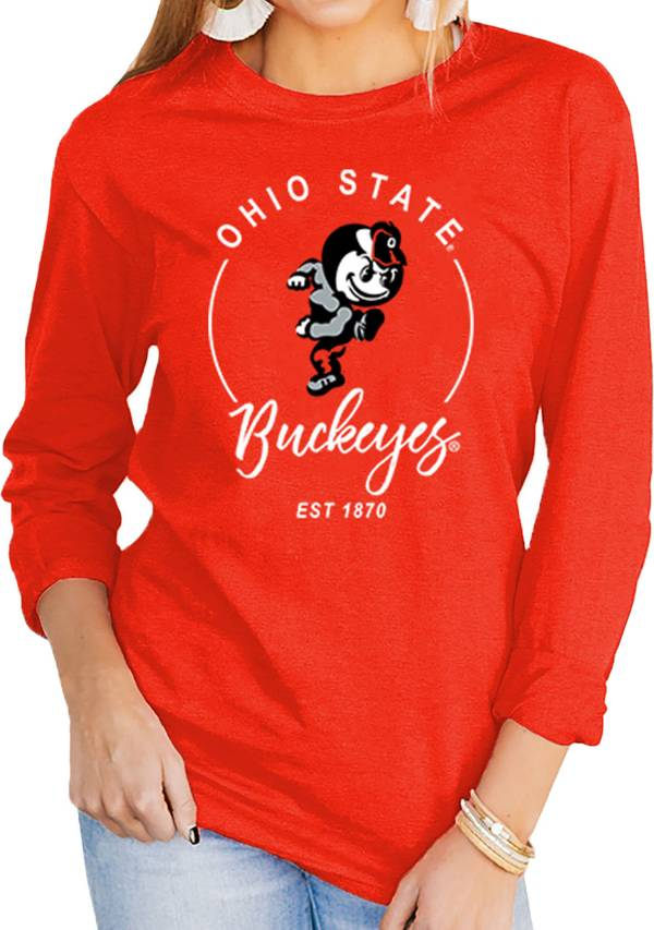 Gameday Couture Women's Ohio State Buckeyes Scarlet Varsity Long Sleeve T-Shirt product image