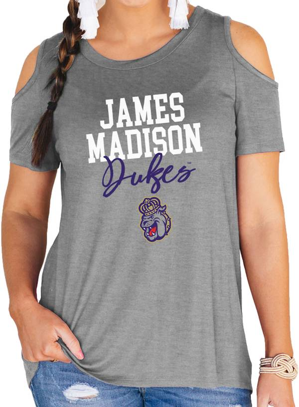 Gameday Couture Women's James Madison Dukes Grey Cold Shoulder T-Shirt product image