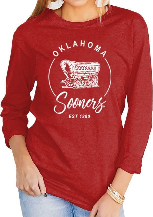 Gameday Couture Women's Oklahoma Sooners Crimson Varsity Long Sleeve T-Shirt product image