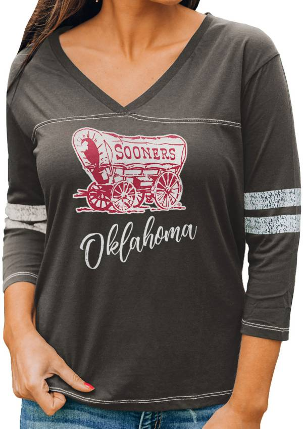 Gameday Couture Women's Oklahoma Sooners Grey ¾ Sleeve Sport T-Shirt product image