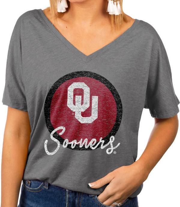 Gameday Couture Women's Oklahoma Sooners Grey Subtle Dolman Sleeve V-Neck T-Shirt product image