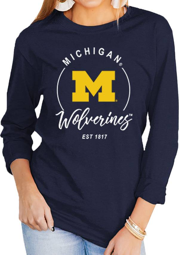 Gameday Couture Women's Michigan Wolverines Blue Varsity Long Sleeve T-Shirt product image