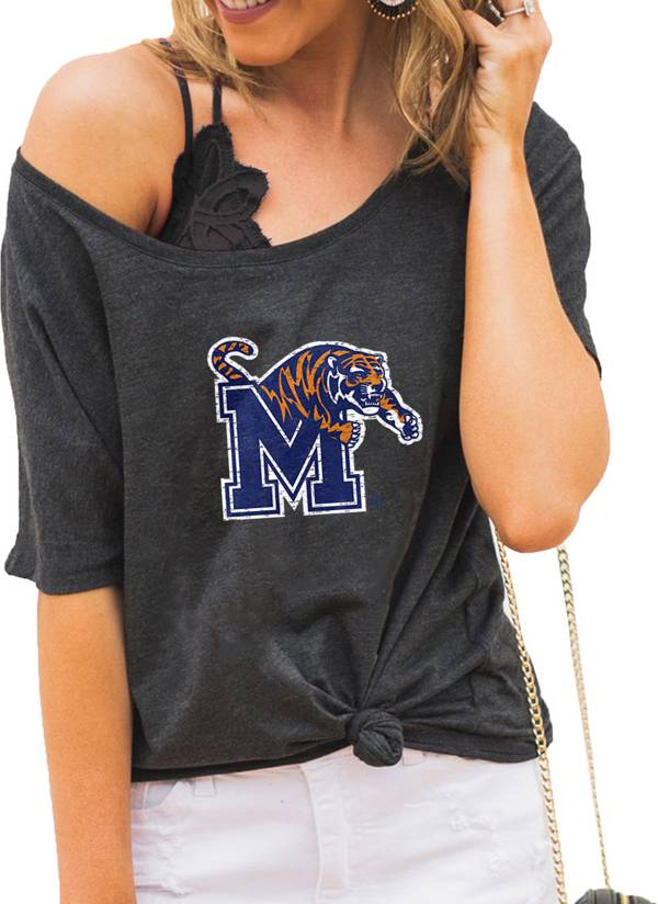 Gameday Couture Women's Memphis Tigers Grey Vibing Boyfriend T-Shirt product image