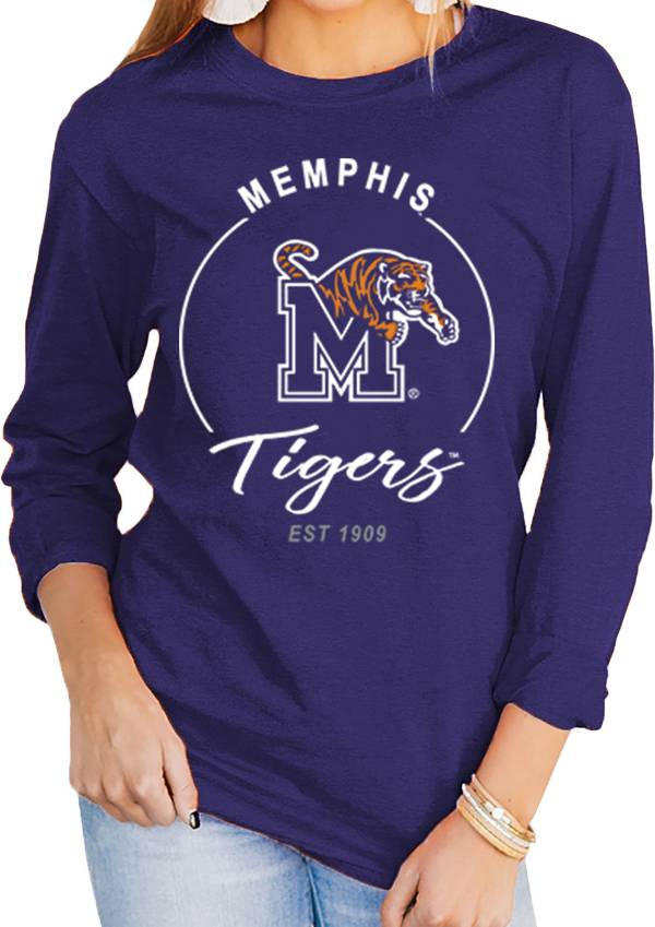 Gameday Couture Women's Memphis Tigers Blue Varsity Long Sleeve T-Shirt product image