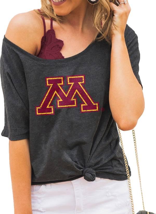 Gameday Couture Women's Minnesota Golden Gophers Grey Vibing Boyfriend T-Shirt product image