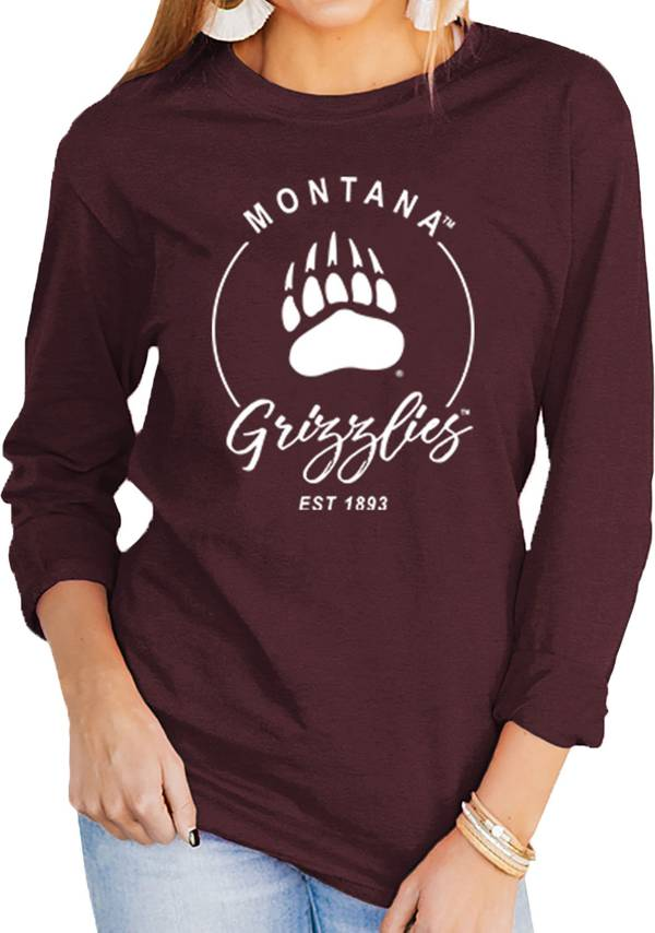 Gameday Couture Women's Montana Grizzlies Maroon Varsity Long Sleeve T-Shirt product image