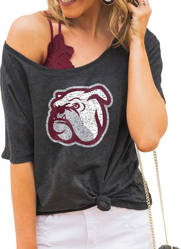 Gameday Couture Women's Mississippi State Bulldogs Grey Vibing Boyfriend T-Shirt product image