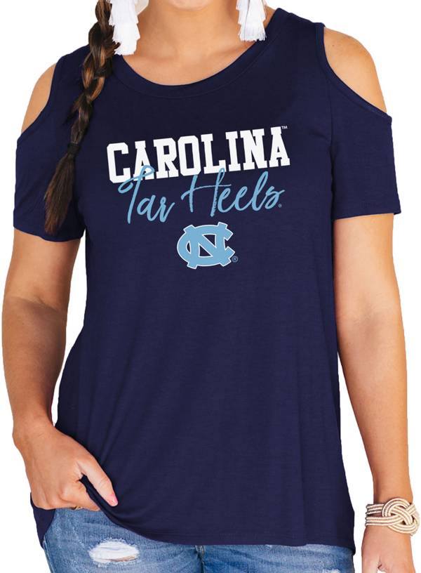 Gameday Couture Women's North Carolina Tar Heels Navy Cold Shoulder T-Shirt product image