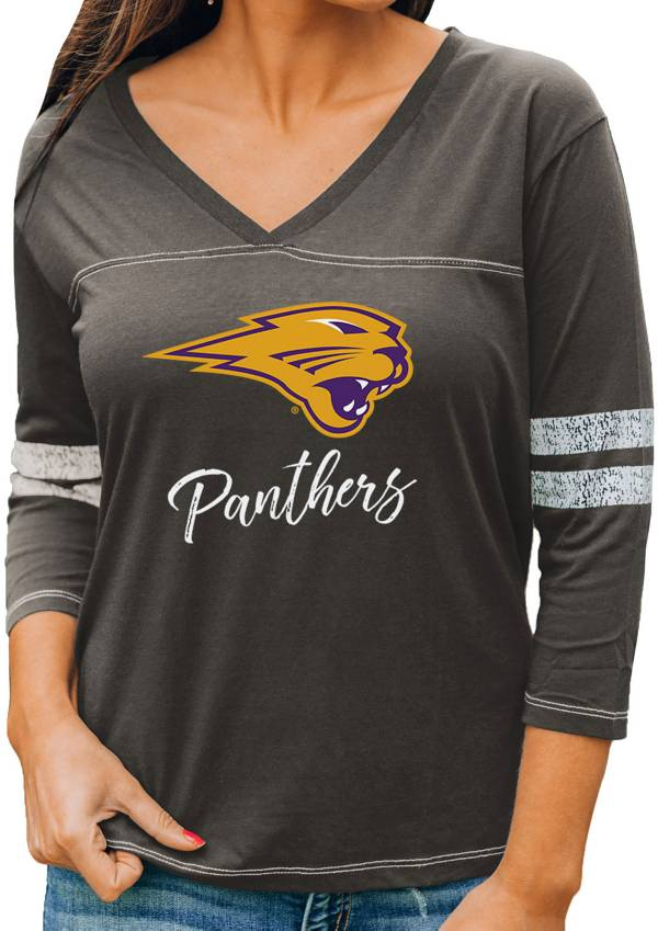 Gameday Couture Women's Northern Iowa Panthers  Grey ¾ Sleeve Sport T-Shirt product image