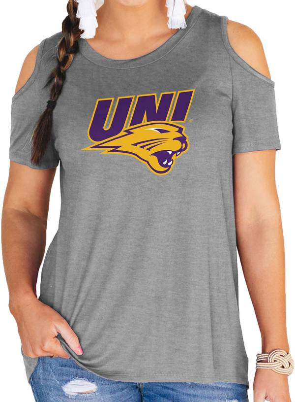 Gameday Couture Women's Northern Iowa Panthers Grey Cold Shoulder T-Shirt product image