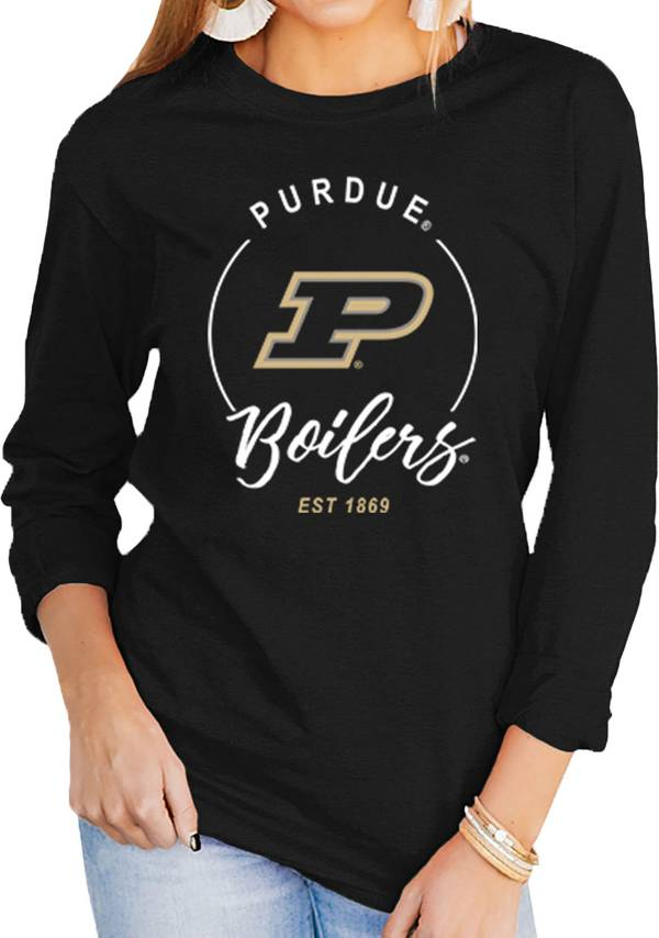 Gameday Couture Women's Purdue Boilermakers Varsity Long Sleeve Black T-Shirt product image