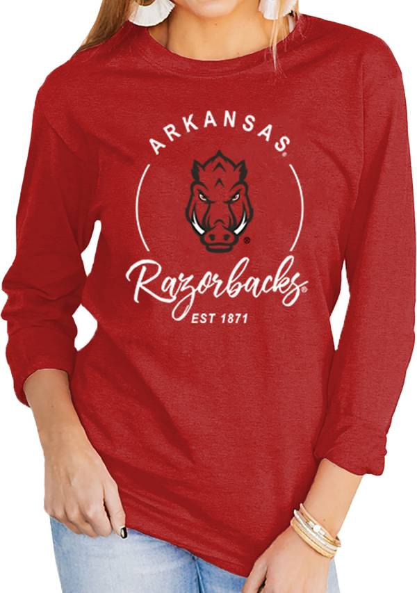 Gameday Couture Women's Arkansas Razorbacks Cardinal Varsity Long Sleeve T-Shirt product image