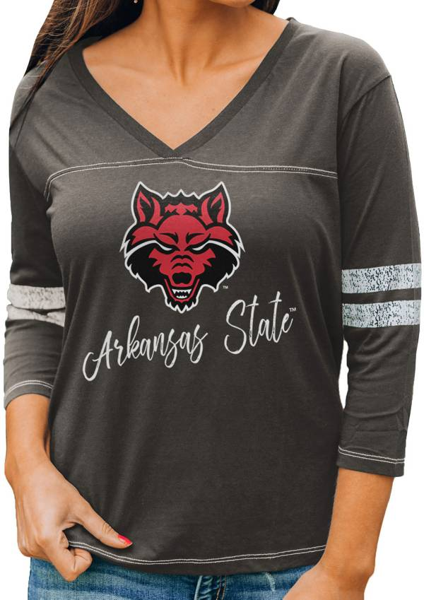 Gameday Couture Women's Arkansas State Red Wolves Grey ¾ Sleeve Sport T-Shirt product image