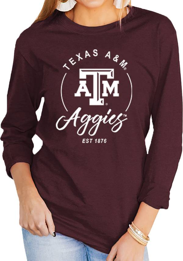 Gameday Couture Women's Texas A&M Aggies Maroon Varsity Long Sleeve T-Shirt product image