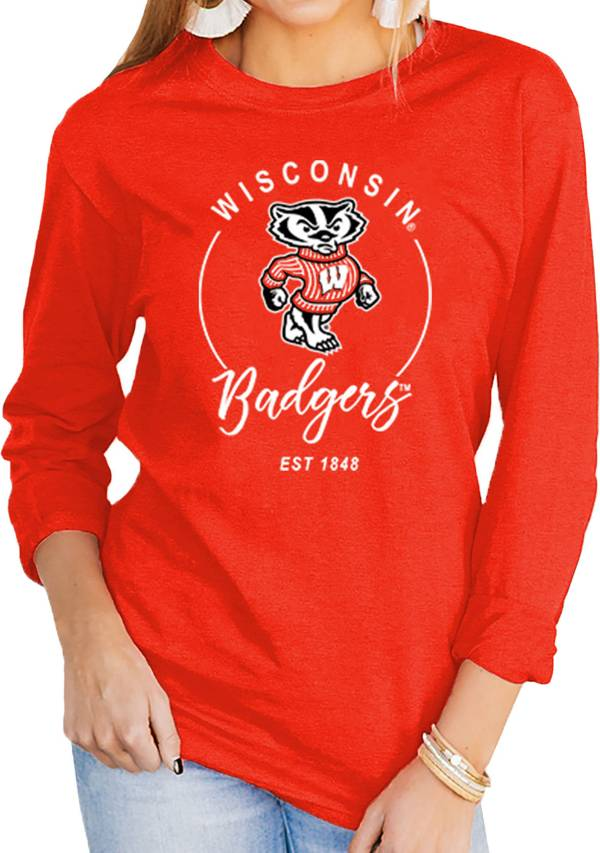 Gameday Couture Women's Wisconsin Badgers Red Varsity Long Sleeve T-Shirt product image