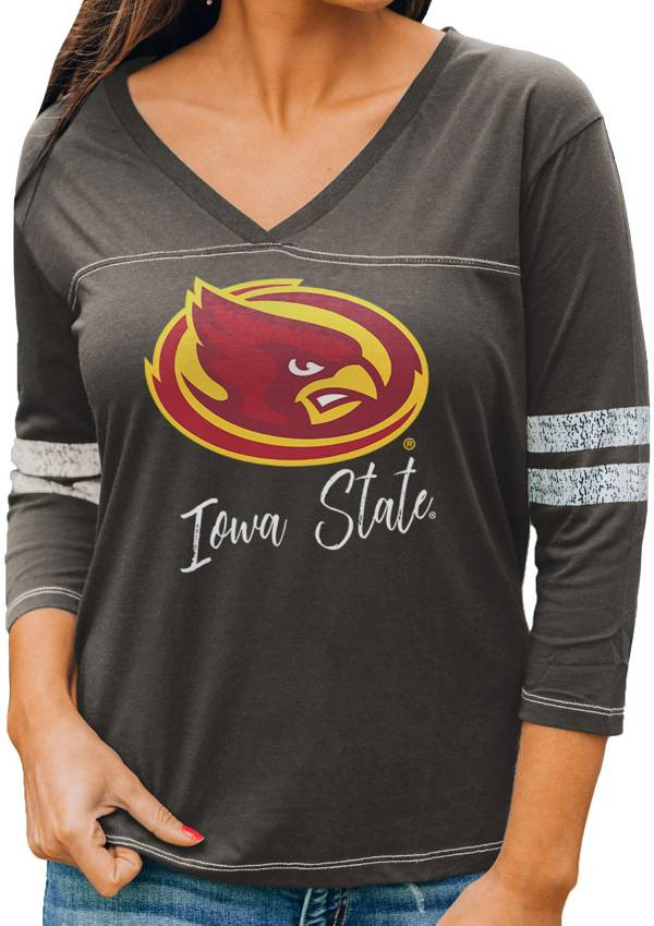 Gameday Couture Women's Iowa State Cyclones Grey ¾ Sleeve Sport T-Shirt product image