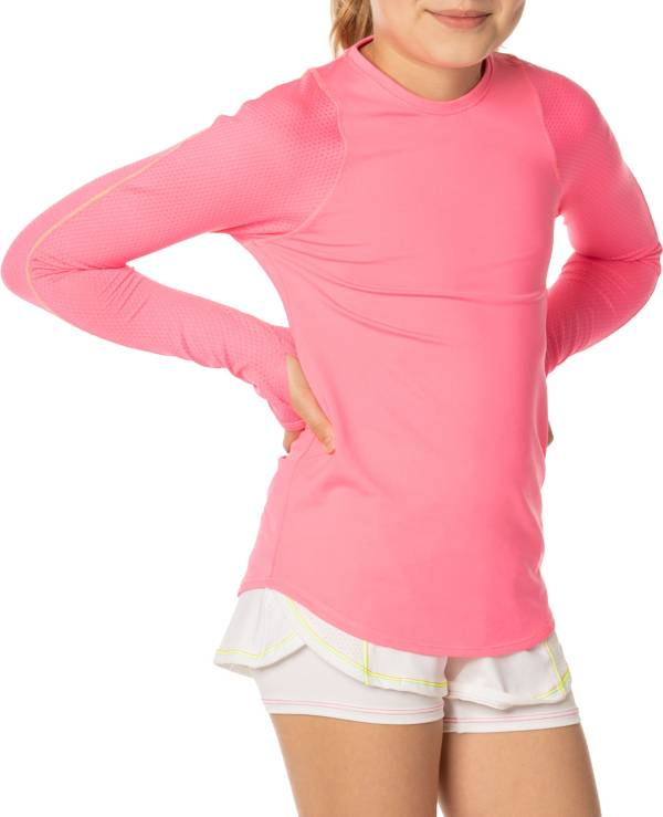 Lucky In Love Girls' Long Sleeve Tennis Shirt product image
