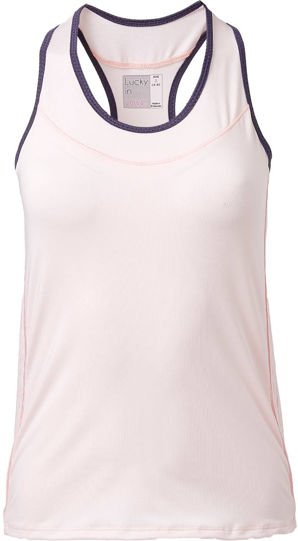 Lucky In Love Women's Racerback Tennis Tank product image